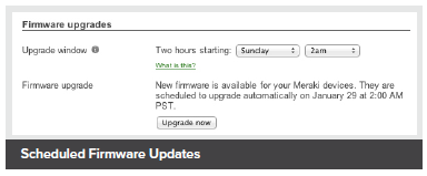 Scheduled Firmware Updates