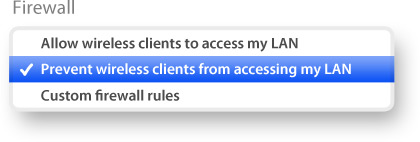 Prevent wireless clients from accessing LAN