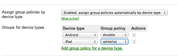 Device-Based Group Policies